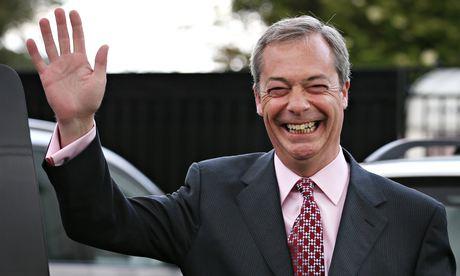 El líder del UKIP británico, Nigel Farage.